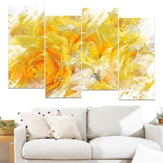 Design Art 'Yellow Tulips' Canvas Art Print