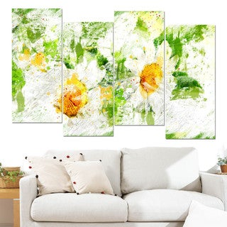 Design Art 'Pair of White Flowers' Canvas Art Print