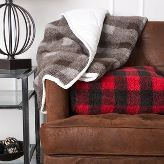 Grandeur Collection Reversible Goose Down 550 Fill Plaid Throw
