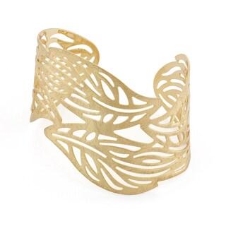 Isla Simone Leaf Cuff Bangle Bracelet