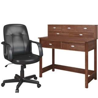 CorLiving Folio 2-piece Desk and Office Chair Set- Solid Desk
