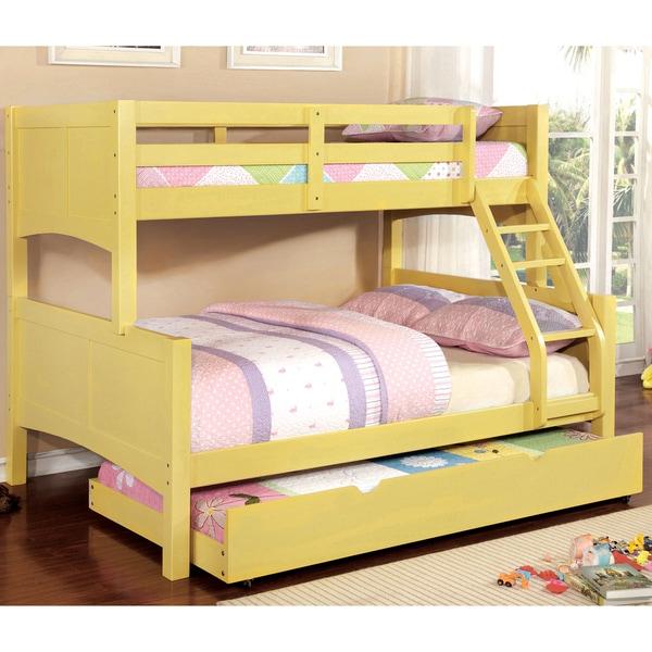 Shop Furniture Of America Colorpop Twin Over Full Modern 2