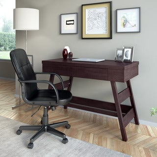 CorLiving WFP-970-Z1 Folio 2-piece Modern Wenge Desk and Office Chair Set
