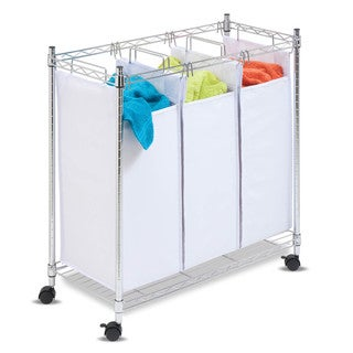 Honey-Can-Do SRT-01157 Urban Chrome Rolling Triple Sorter