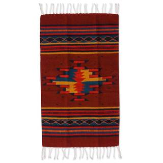 Handcrafted Wool 'Mitla' Zapotec Rug 2x3 (Mexico)