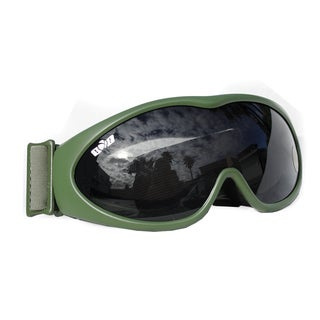 GXG Deluxe Airsoft Bubble Goggles OD Olive Green Frames with Smoke Polycarbonate Lens