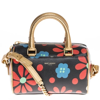 Saint Laurent Mini Floral Duffle
