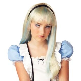 Alice in Wonderland Child Costume Blonde and Blue Wig