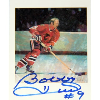 NHL Chicago Blackhawks Bobby Hull Autographed Collector Card