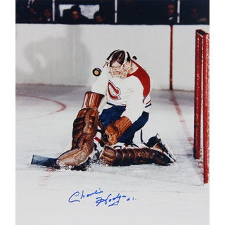 NHL Montreal Canadiens Autographed Charlie Hodge 8x10
