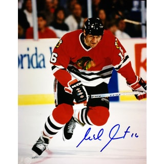NHL Chicago Blackhawks Michel Goulet Autographed 8x10 Photograph