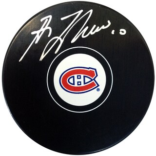 NHL Montreal Canadiens Guy Lafleur Autographed Hockey Puck