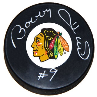 NHL Chicago Blackhawks Bobby Hull Autographed Hockey Puck