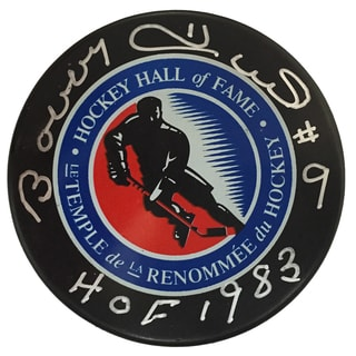 Hockey Hall of Fame Bobby Hull Autographed Hockey Hall of Fame Puck