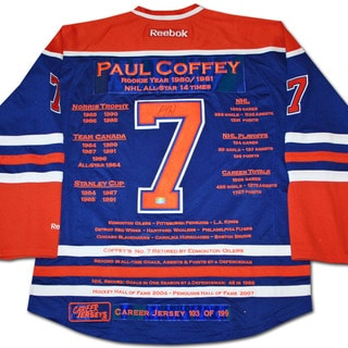 NHL Edmonton Oilers Paul Coffey Career Jersey