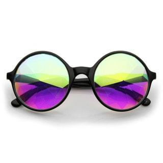 Adult Black Kaleidoscope Sunglasses Costume Accessory