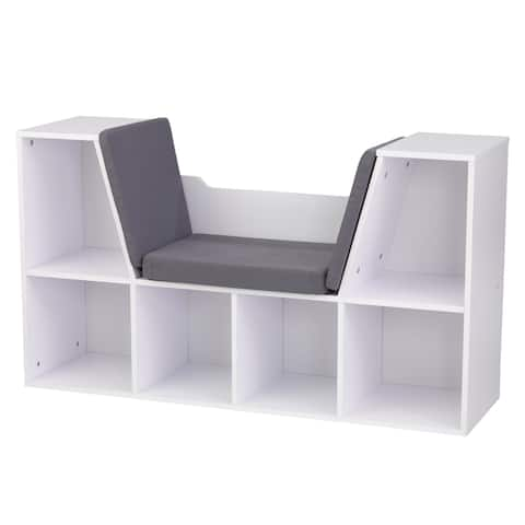 KidKraft White Bookcase with Reading Nook