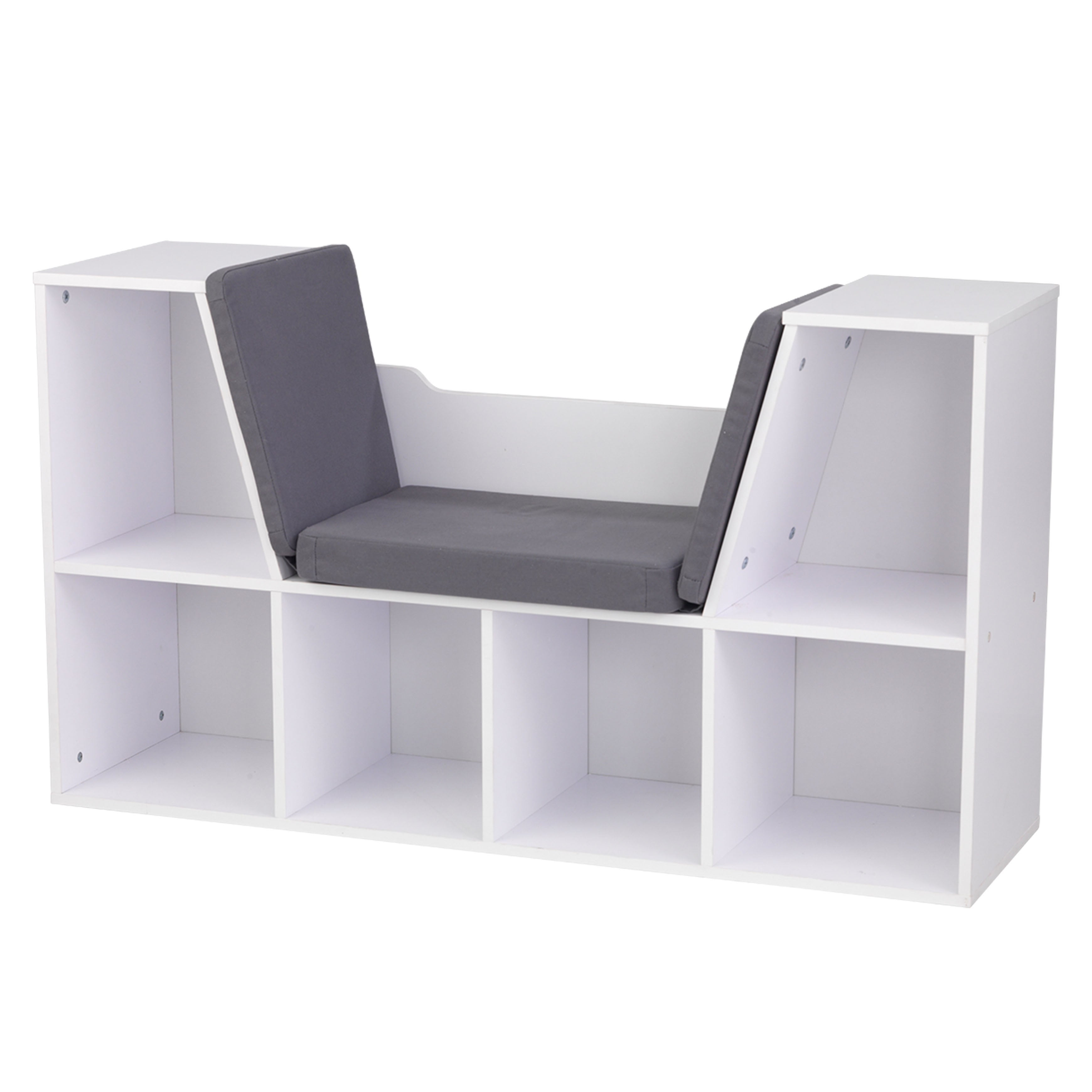 Kid Kraft White Bookcase with Reading Nook (Bookcase with...