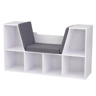 KidKraft White Bookcase with Reading Nook - N/A