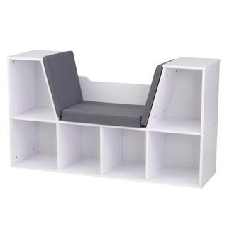 kids toy storage furniture. KidKraft White Bookcase With Reading Nook Kids Toy Storage Furniture