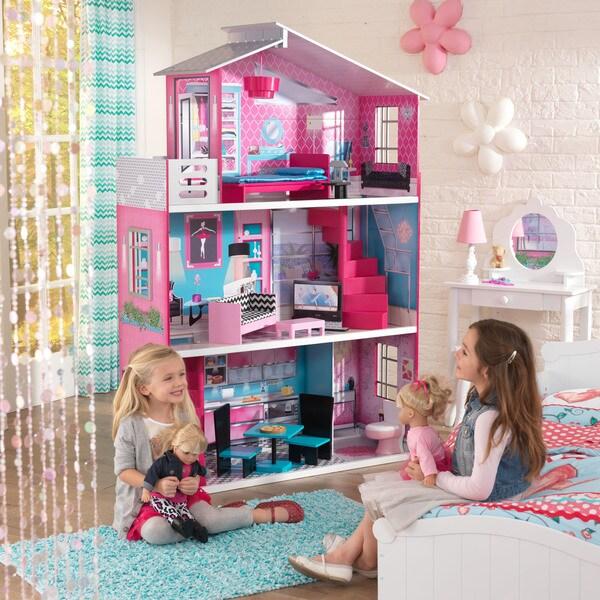 Kidkraft Modern Country Kok : KidKraft Country Estate Dollhouse