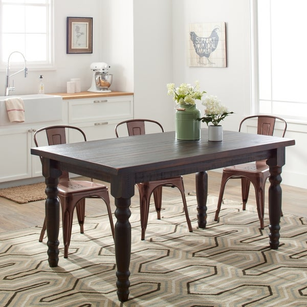 Grain Wood Furniture Valerie 63inch Solid Wood Dining Table
