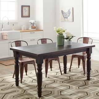 farm dining room table. grain wood furniture valerie 63-inch solid dining table farm room