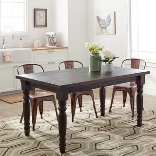 grain wood furniture valerie 63 inch solid wood dining table - Long Wood Dining Table