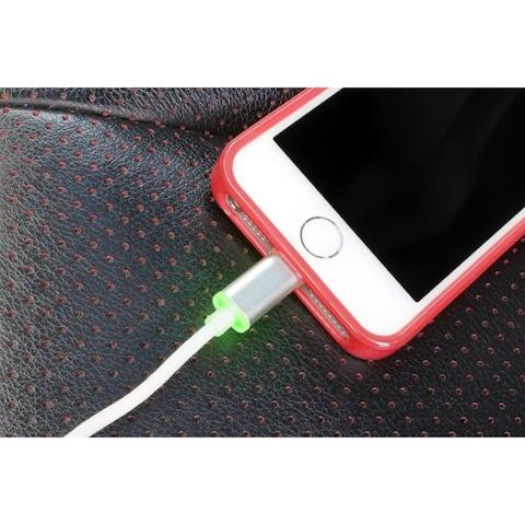 VisionTek Lightning to USB Smart LED 6.6 foot 2 meter MFI Cable