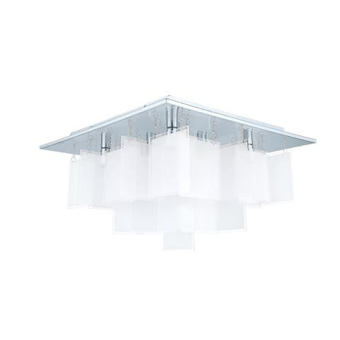 Eglo Condrata 1 Ceiling Light w/Chrome Finish & Satin Glass