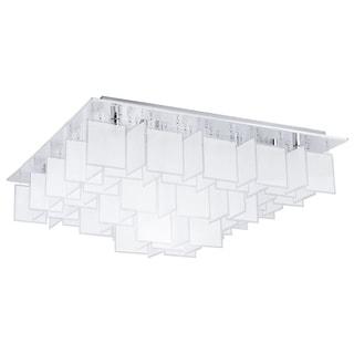 Eglo Condrata 1 - 16 x 40W Ceiling Light w/Chrome Finish & Satin Glass