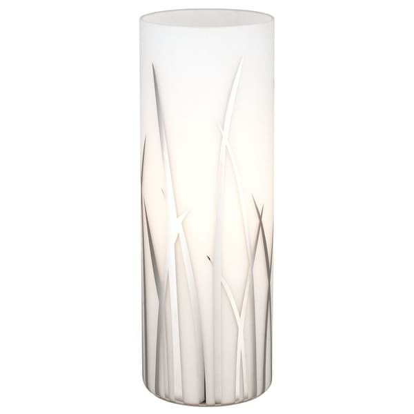 Eglo Rivato- 1 x 60 W Table Lamp w/Chrome Finish & White & Chrome Decor