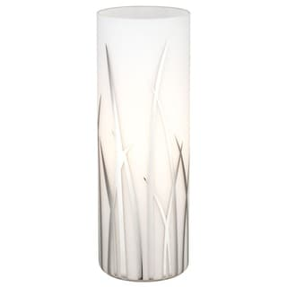 Eglo Rivato- 1 x 60 W Table Lamp w/Chrome Finish & White & Chrome Decor