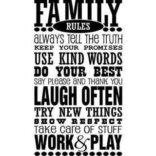 Family Rules Vinyl Wall Art