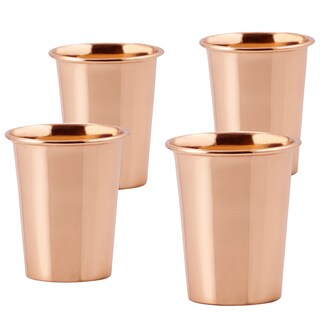Solid Copper Flared Tumblers (Set of 4)