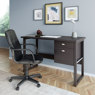 CorLiving WFP-480-Z1 Folio 2-piece Black Espresso Desk and Office Chair Set