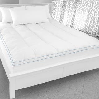 SwissLux Supreme Memory Foam and Fiber Bed Topper with Skirt|https://ak1.ostkcdn.com/images/products/10239985/P17359774.jpg?impolicy=medium