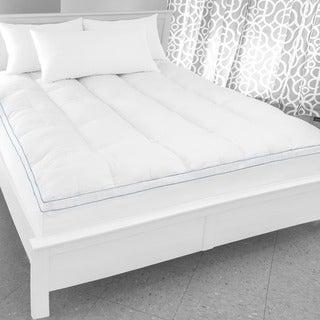 SwissLux Supreme Memory Foam and Fiber Bed Topper with Skirt