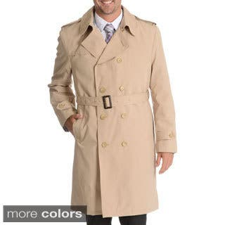 Blu Martini Men's Double Breasted Trench Coat|https://ak1.ostkcdn.com/images/products/10240393/P17360160.jpg?impolicy=medium