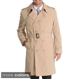 Blu Martini Men's Double Breasted Trench Coat
