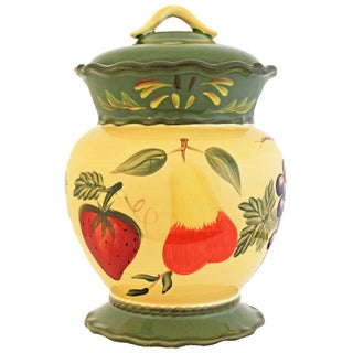 Harvest Collection Hand-painted Cookie Jar