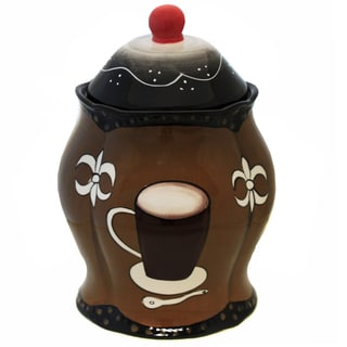 Cafe Collection Hand-painted Cookie Jar