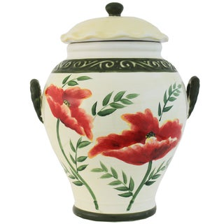 Poppy Collection Hand-painted Cookie Jar