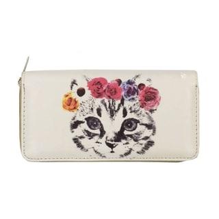 Flower Crown Kitten Zip-around Wallet
