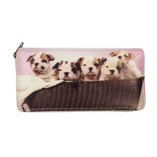 Puppy Family Day Zip-around Wallet