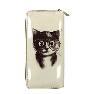 Kitten Nerd Zip-around Wallet