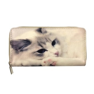 I'm Thinking Of Love Kitten Zip-around Wallet