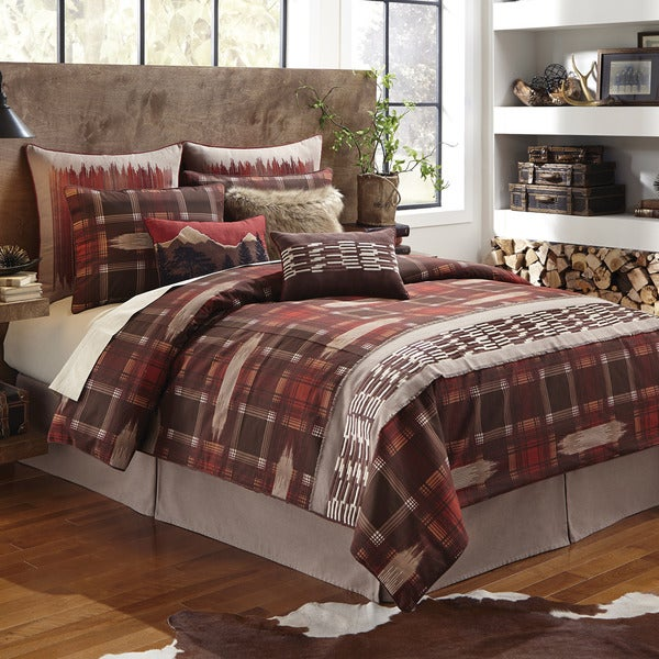 Croscill Wagner Print Lodge Embroidered  4-piece Comforter Set