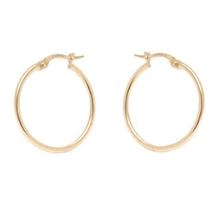 Pori 14k Yellow Gold 1.5x24mm Circle Hoop Earrings