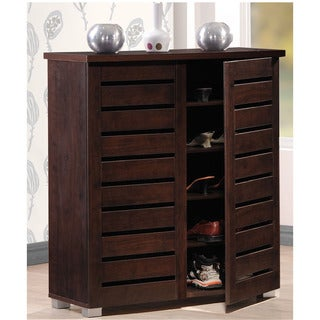 Baxton Studio Redman Contemporary 2-door Dark Brown Shoe Cabinet